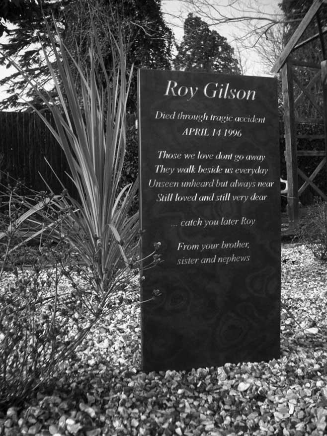 memorial stone plaque