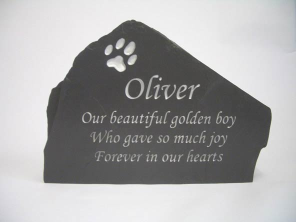 classic pet memorial headstone