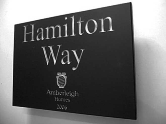 commercial sign for Amberleigh homes