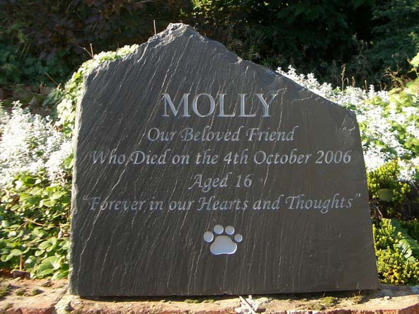 free standing slate headstone for cats