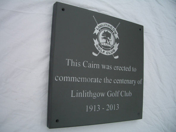 gold club commemorate plaque