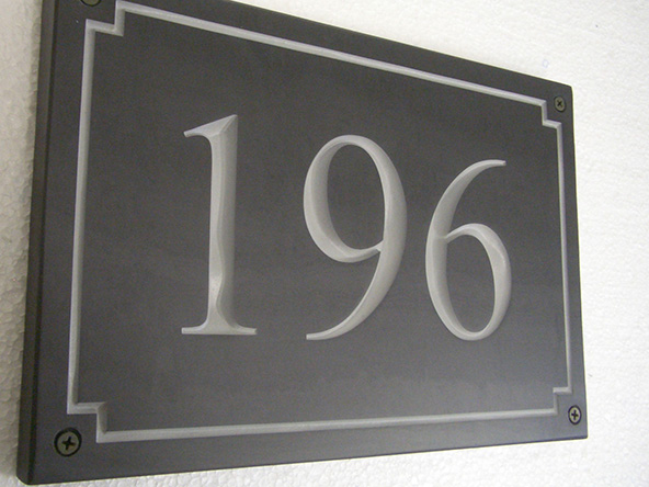 number name plate