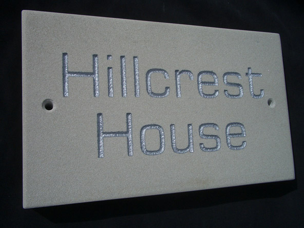 sandstone house sign plaque