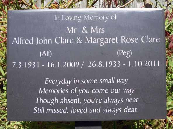 Slate plaque with a custom message