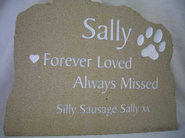 solid sandstone pet stone marker for garden