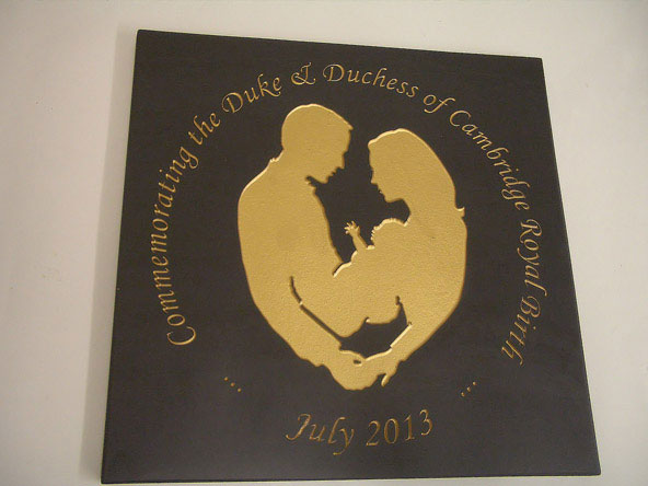 slate gift commemorating the royal birth