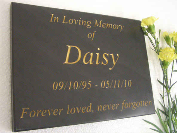 wall mounted slate pet memorial