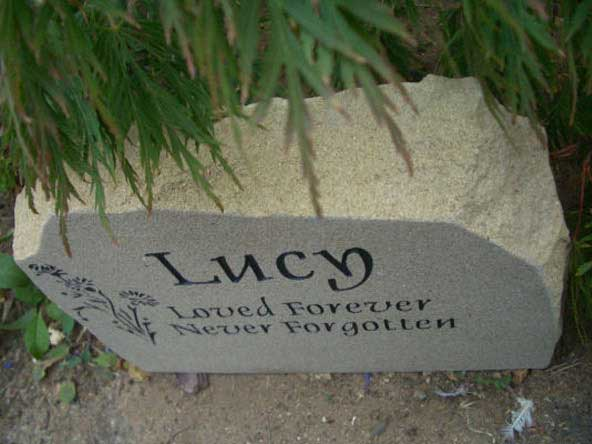 york stone pet gravestone