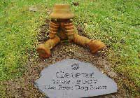 grave stone for doggy gelert aged 11
