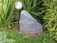 headstone for greatly missed jaffa 1998 2010