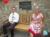 opening plaque and bench for rememberance garden at dorset county hospital thumbnail