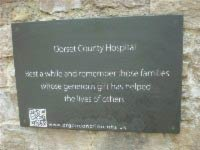 opening plaque for rememberance garden at dorset county hospital thumbnail