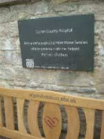 plaque and organ donation bench for dorset county hospital thumbnail