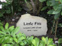 sandstone headstone for little fitz