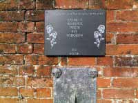slate commemorative plaque with engraved text sparkle whisper perdi fly widgeon