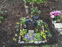 slate headstone in loving memory of wife ivy