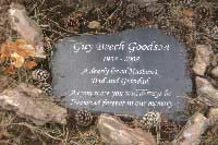 welsh slate memorial plaque for husband