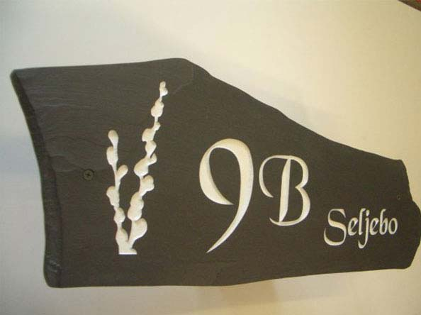 House Number Signs In Stone, Slate And Marble Styles
