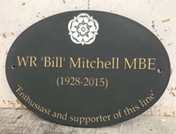 commemorative plaque for wr bill mitchell mbe