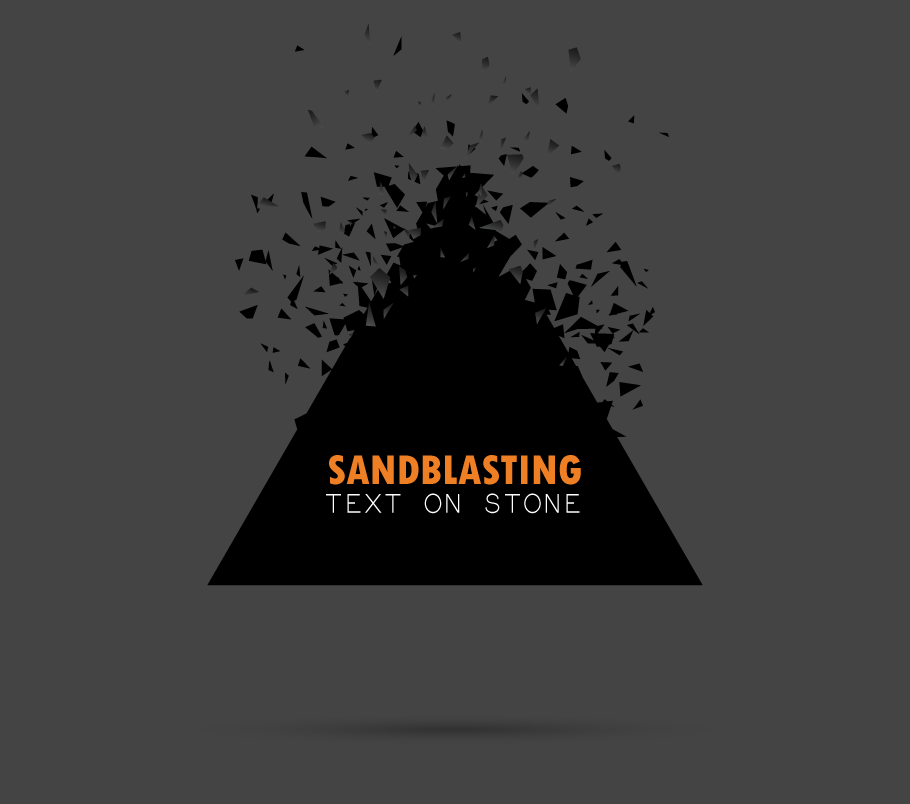 illustration of sandblasting