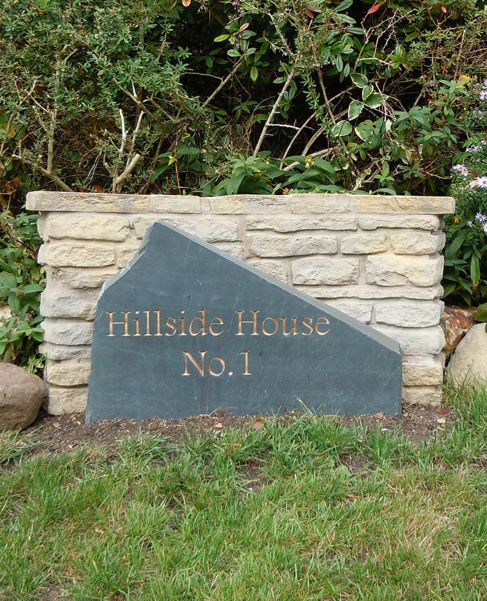 large upright sign for front garden