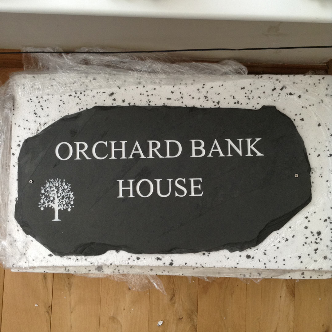 Stone House Signs in a Range of Styles and Quality Materials