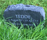 memorial marker for dog teddy thumbnail