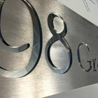 Aluminium cnc house sign with number and road name thumbnail