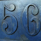 cast iron house sign number 56 thumbnail