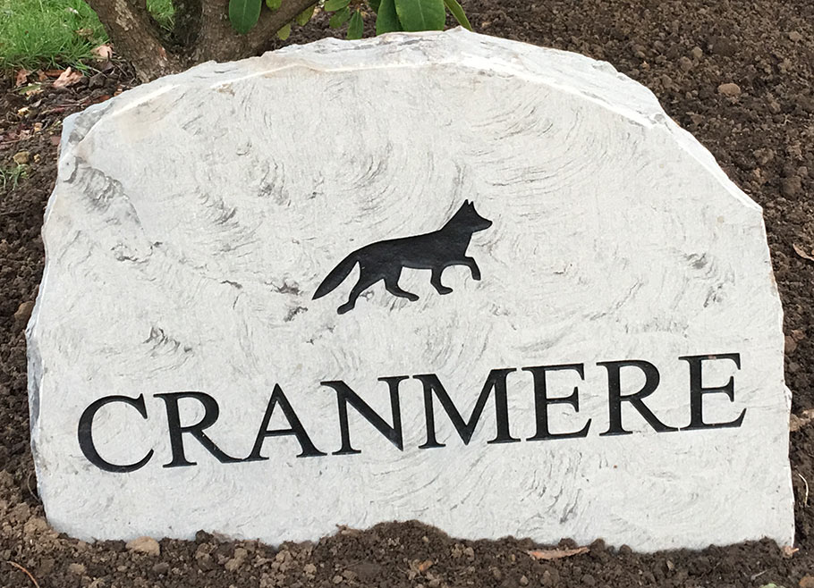 cranmere marble house sign