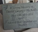 in loving memory slate memorial plaque with bird engrave thumbnail
