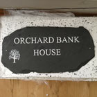 welsh slate house sign for orchard bank house with tree image engrave thumbnail