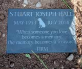 memorial plaque for stuart with lovely text thumbnail