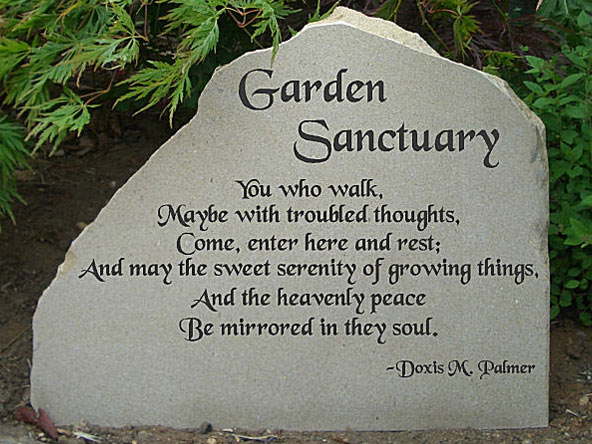 york garden sancturary personal message