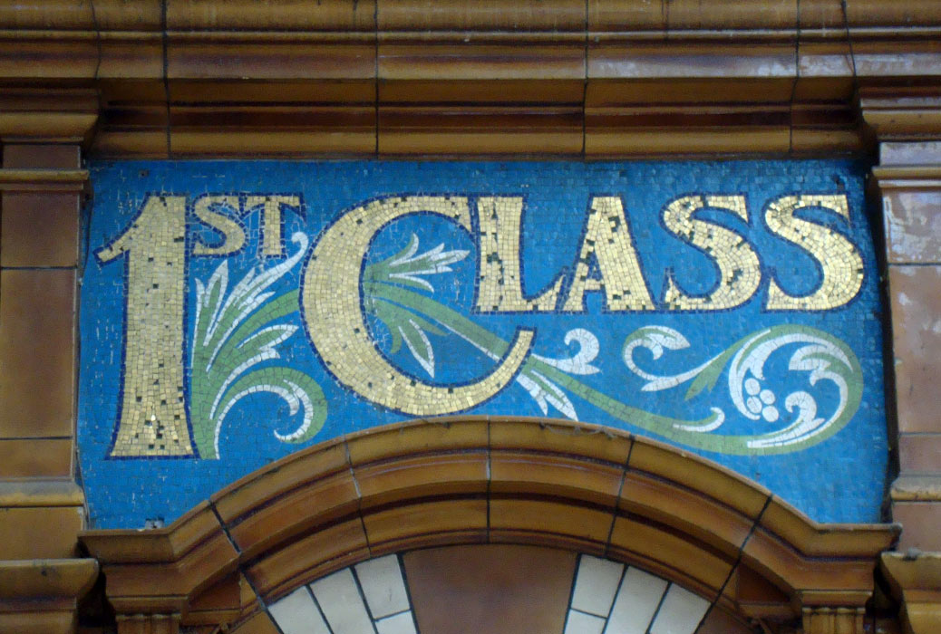 example of glass tiles business sign
