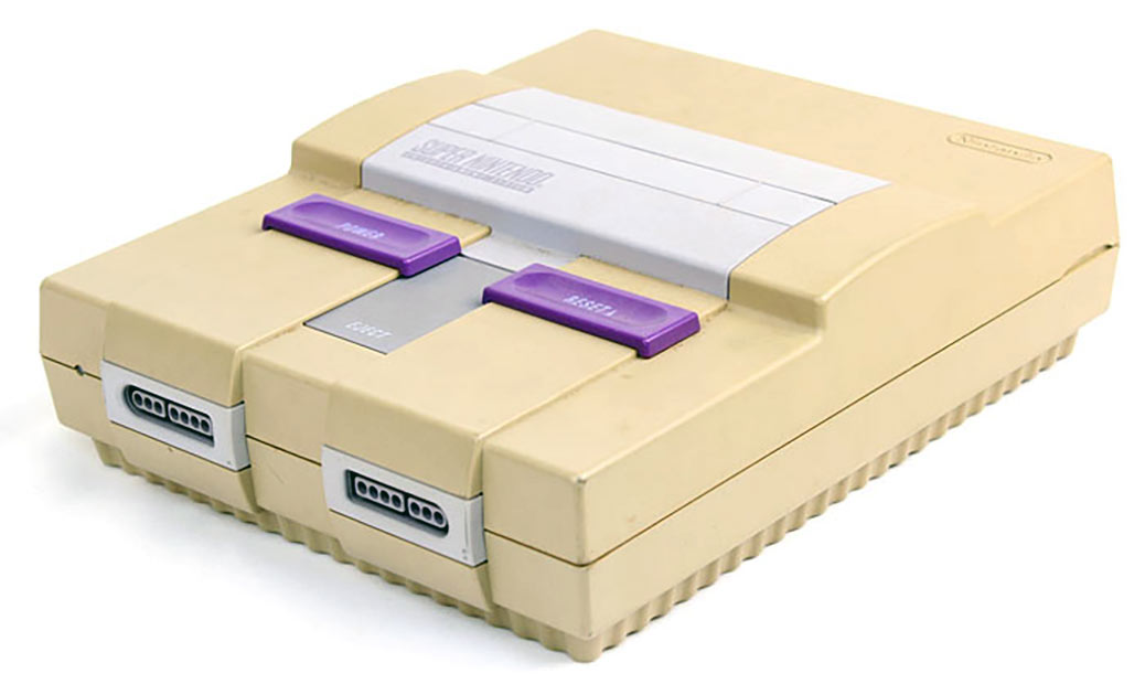 faded super nintendo from being exposed to uv