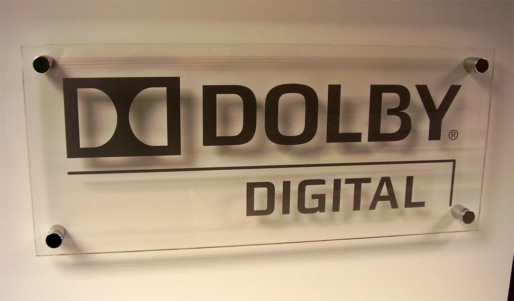 dolby digital glass sign