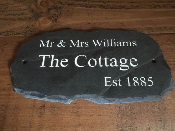 large natural slate plaque with house name the cottage est 1885 thumbnail