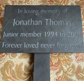 remembrance engraved plaque attached to post thumbnail