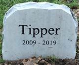 yorkshire tribute memorial for doggie tipper aged 9