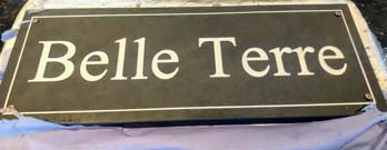 belle terre name plaque