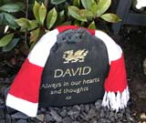 headstone for david with message always in our hearts and thoughts