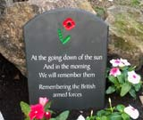 commemorative headstone for british armed forces