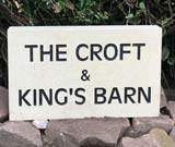 york sign for businesses the croft and kings barn