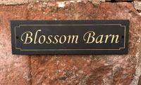 House Plaque For Blossom Barn